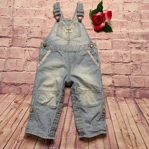 OshKosh Girls Sz 18 Months Pin Striped Overalls